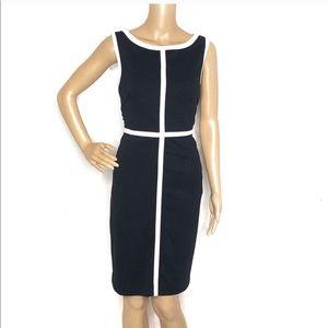 Calvin Klein Black And White sheath Dress E13